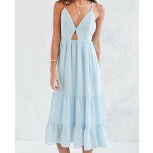 Kimchi Blue midi tiered dress NWT